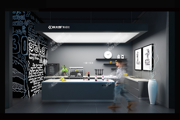 建材展展台设计效果图图片