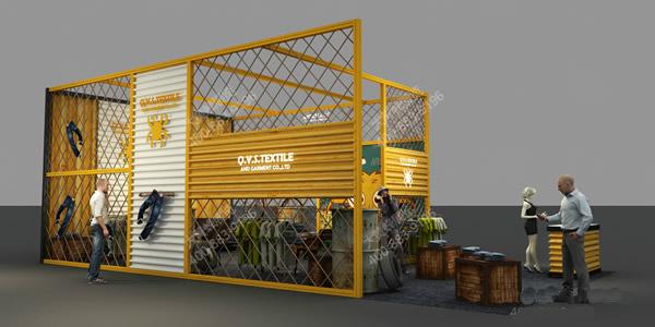 工业风展示厅设计效果图