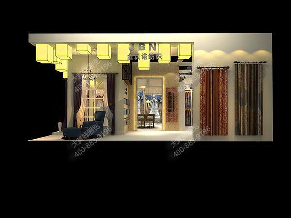中式展台设计_中式展台效果图欣赏_「大黄蜂展览」