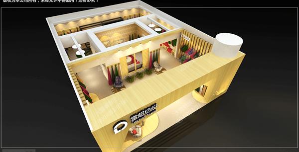 杭州展厅装修设计效果图侧面视角
