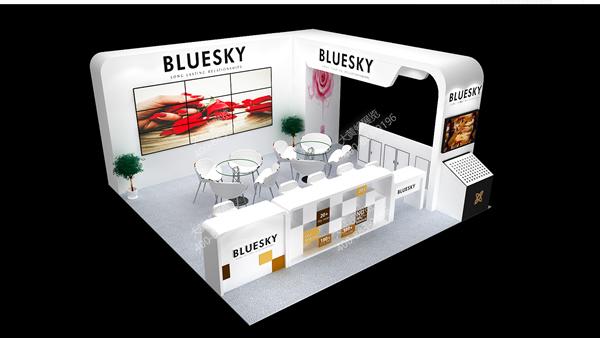 2019化妆品展台设计效果图_大黄蜂在线欧派3d展览设计教程图片