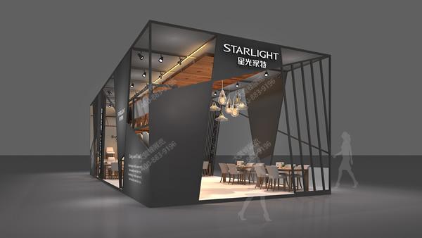 中式家具展厅设计_星光